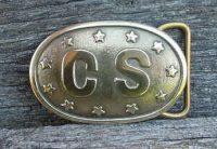 Buckle,CSOvalwithStars,Brass