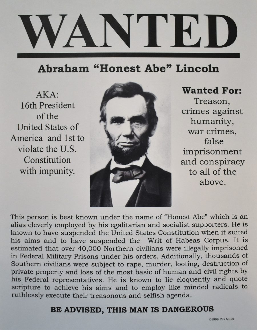 Image result for lincoln wanted poster