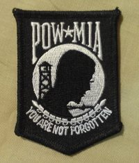 POW MIA sew on patch excellent quality