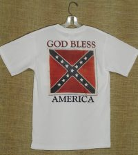 God bless america confederate t-shirt tee-shirt rebel