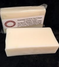 Old time soap, lye