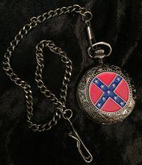 rebel flag pocket watch