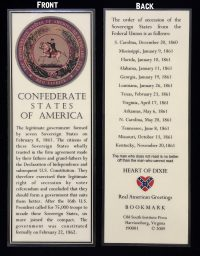 confederate seal bookmark