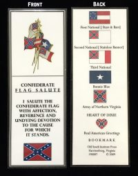 flag salute bookmark