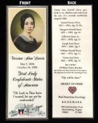 varina davis bookmark